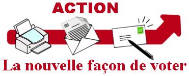Action SITA : imprimer, poster - La nouvelle façon de voter